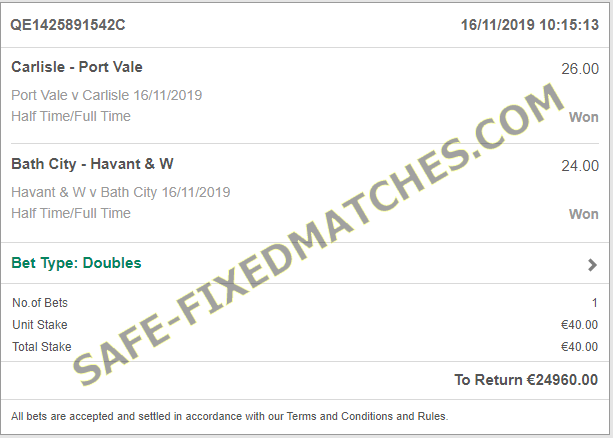 FIXED MATCHES ASIA 100% SURE