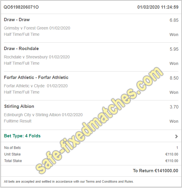 sure soccer fixed matches 100%