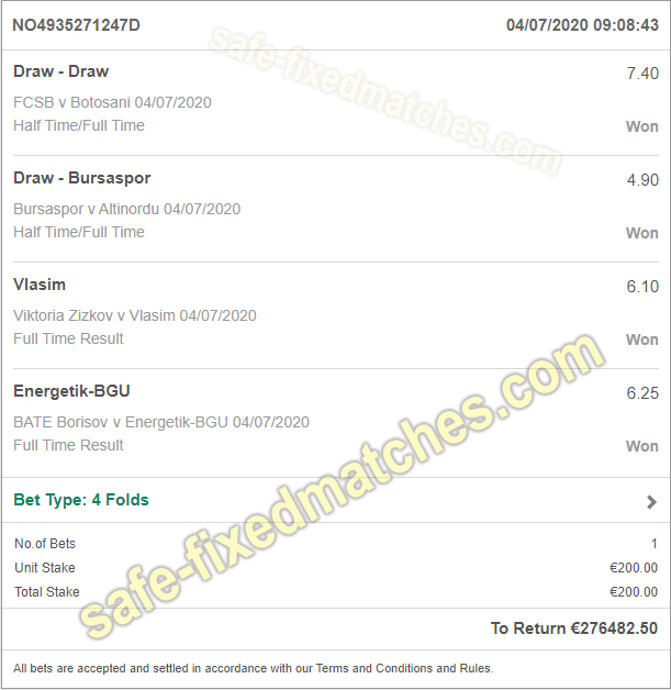 fixed soccer bets 100% betting tips